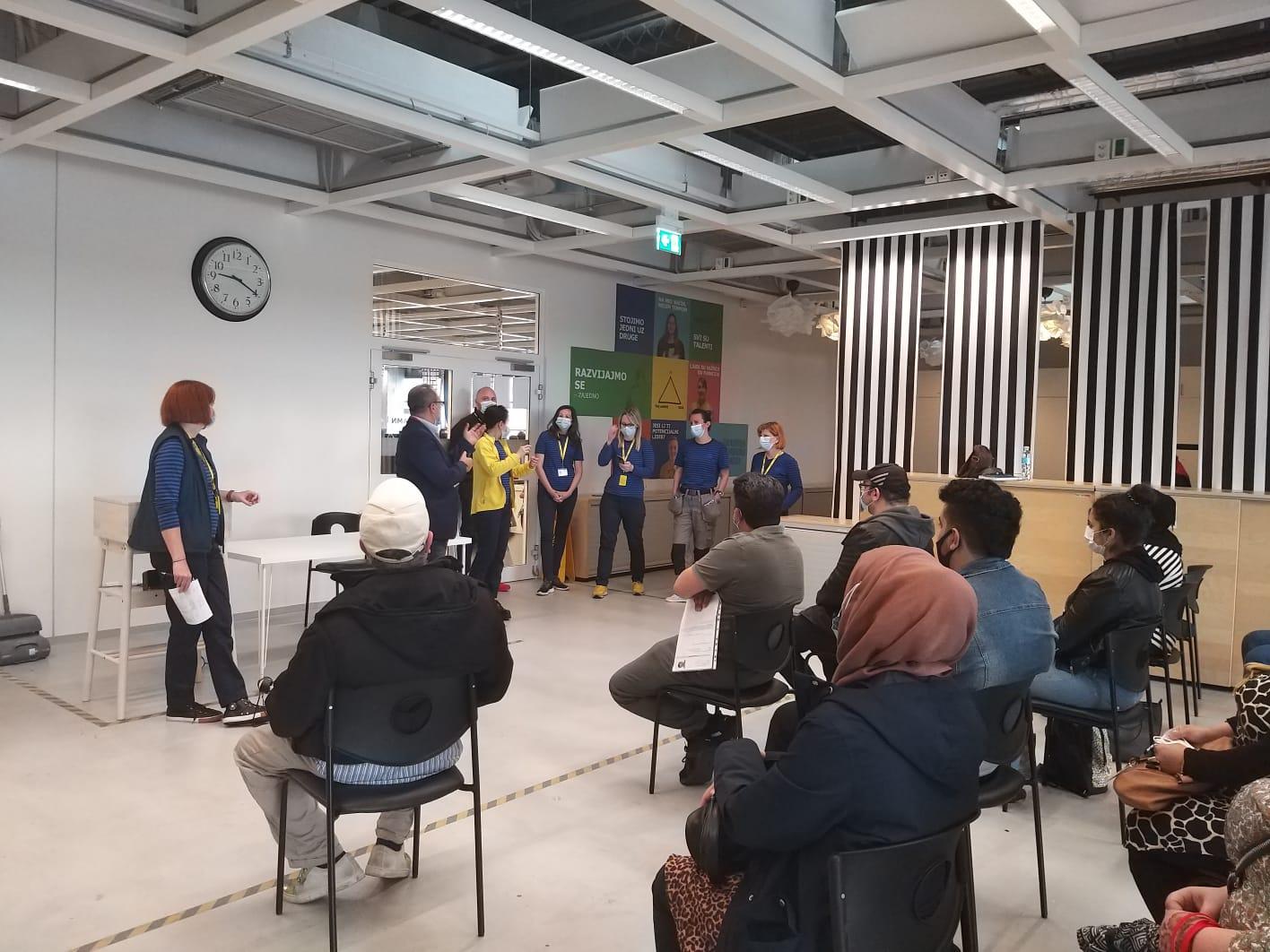 KORISNICI/CE PROJEKTA ''NOVI SUSJEDI'' ZAPOČELI PRIPRAVNIČKI RAD U IKEA TRGOVINI - Centar za kulturu dijaloga - CKD